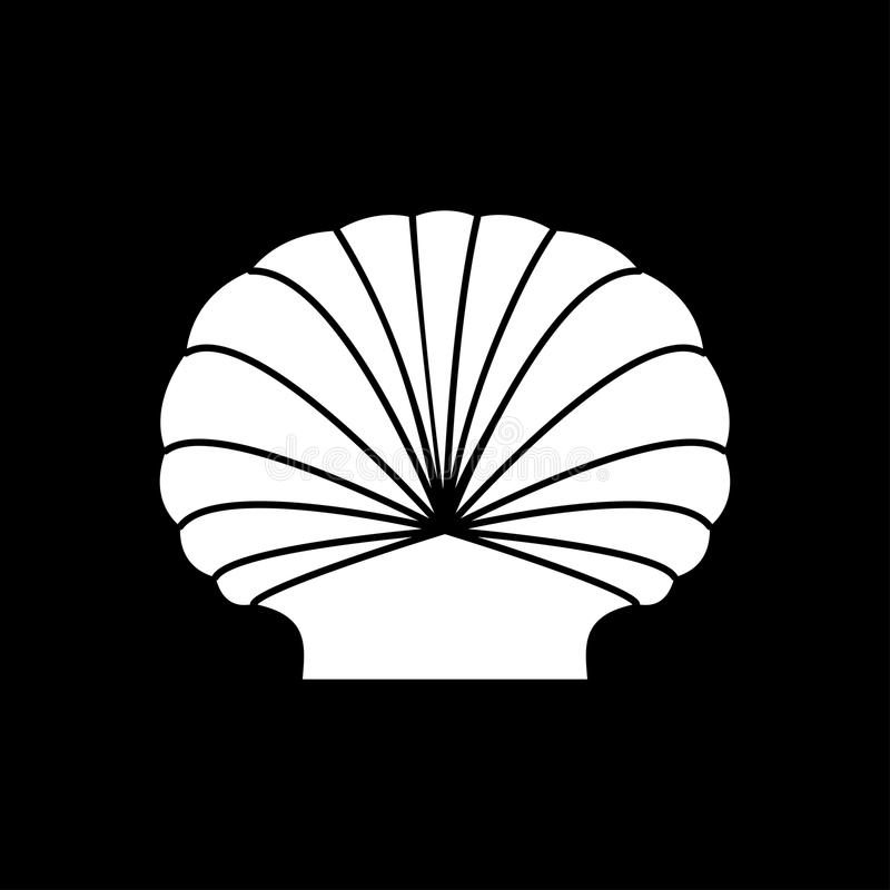 Shell c'est l'icône blanche illustration stock
