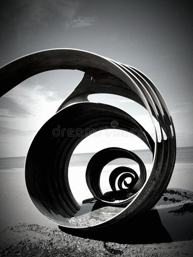 Download The Shell On Cleveleys Beach Stock Photo - Image: 49254632