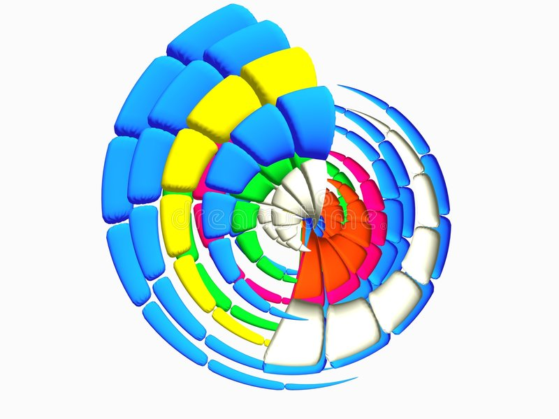 Shell colorido 1 stock de ilustración