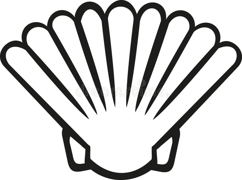 Shell contournent l'océan illustration stock