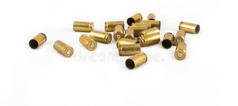 Shell da munição 9 milímetros fotografia de stock