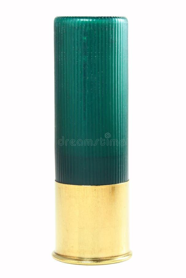 Shell de escopeta verde imagenes de archivo