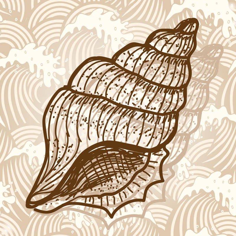 Shell del mar stock de ilustración