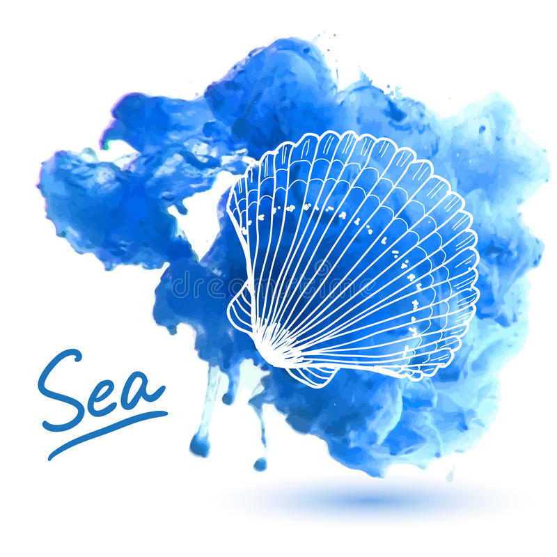 Shell del mar ilustración del vector