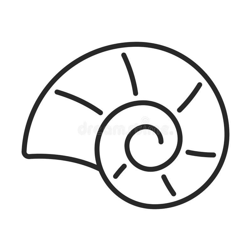 Shell dirigent l'icône illustration stock
