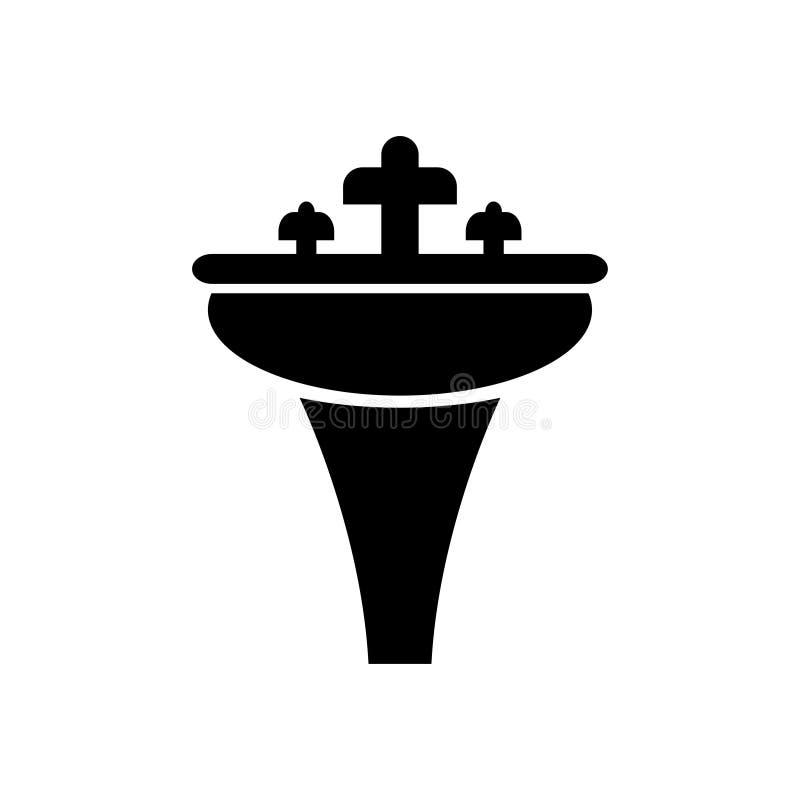 Shell dirigent le noir d'isolement par icône illustration de vecteur