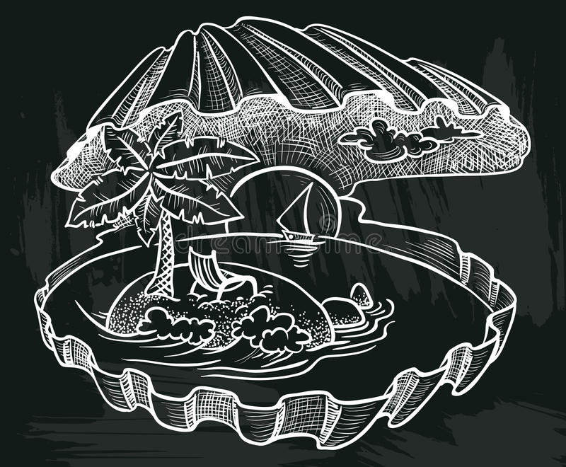 Shell do mar ilustração royalty free