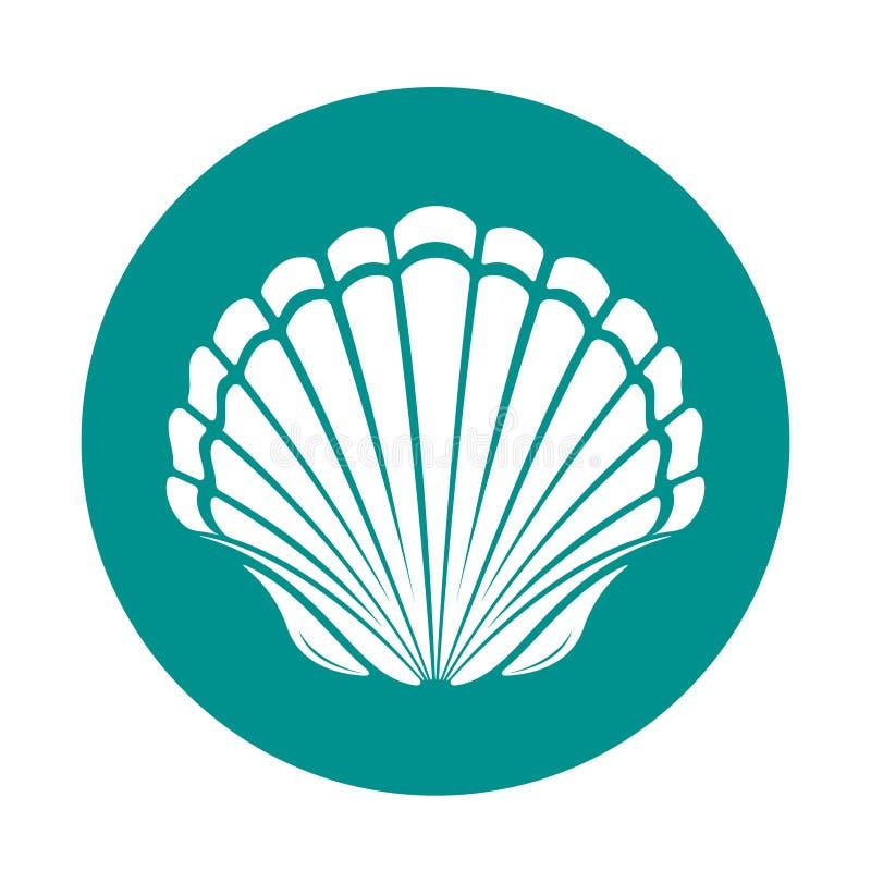 Shell do mar da vieira ilustração royalty free