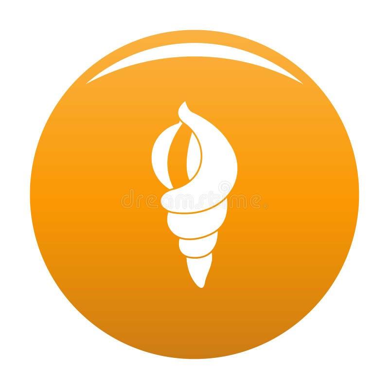 Shell en tant qu'orange d'icône de maison illustration libre de droits
