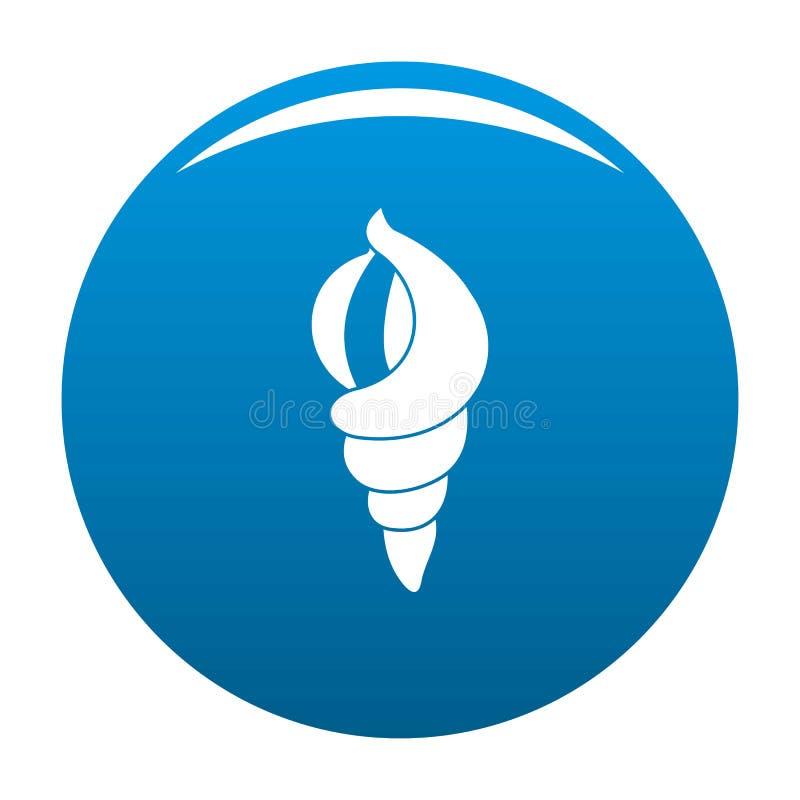 Shell en tant que bleu d'icône de maison illustration stock