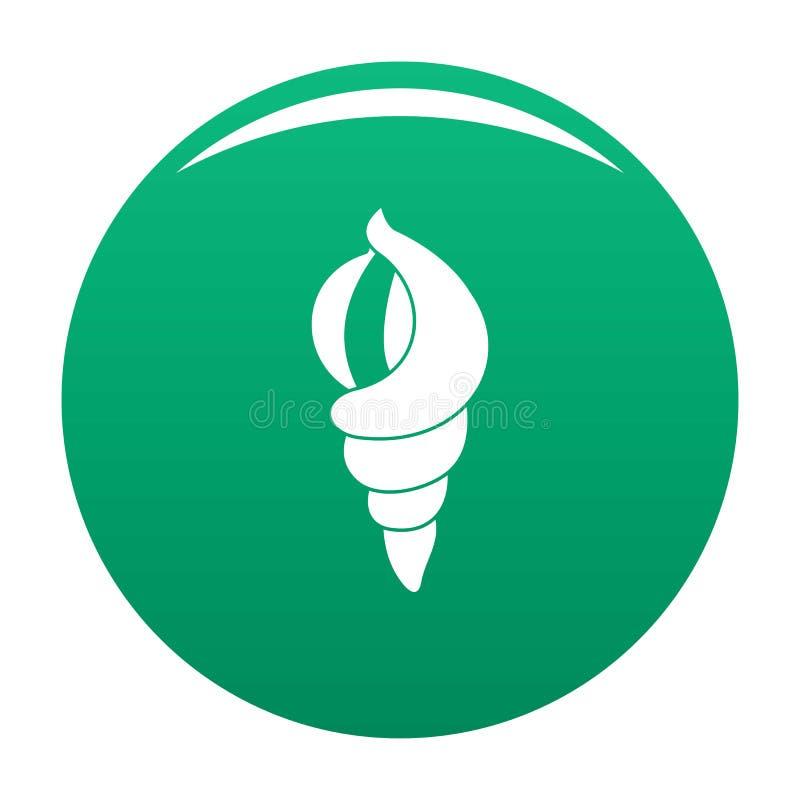Shell en tant que vert de vecteur d'icône de maison illustration libre de droits