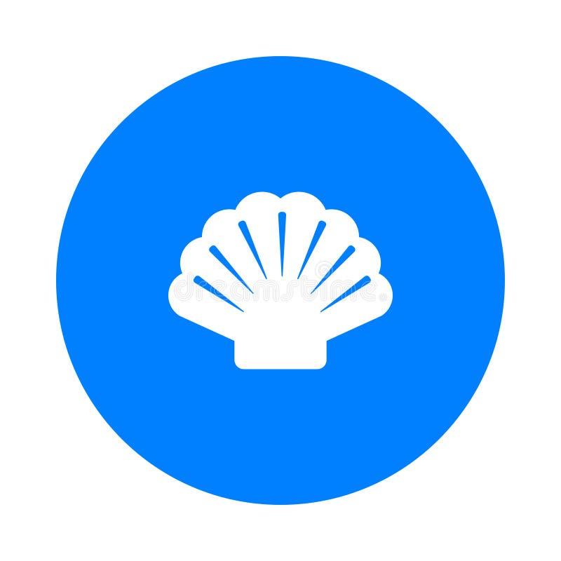 Shell et cercle illustration stock