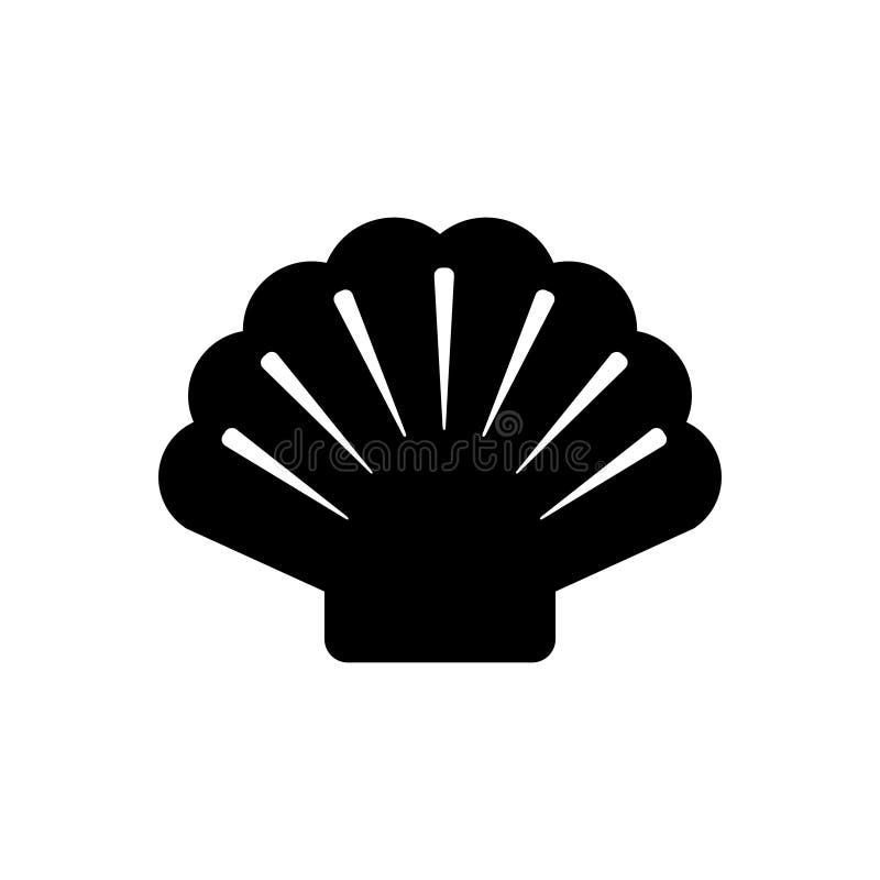 Shell et fond illustration stock