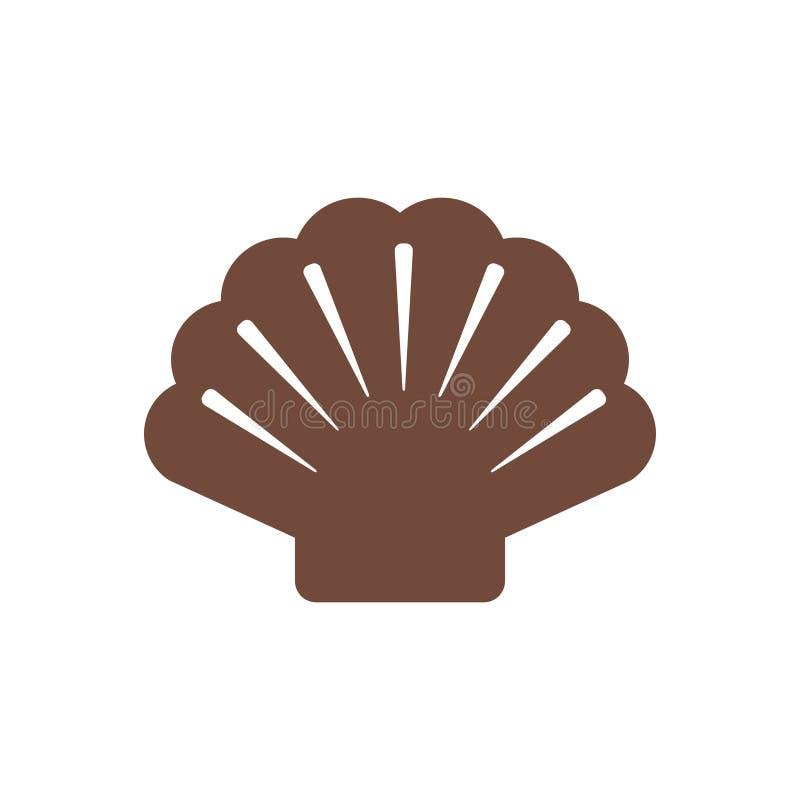 Shell et fond illustration de vecteur