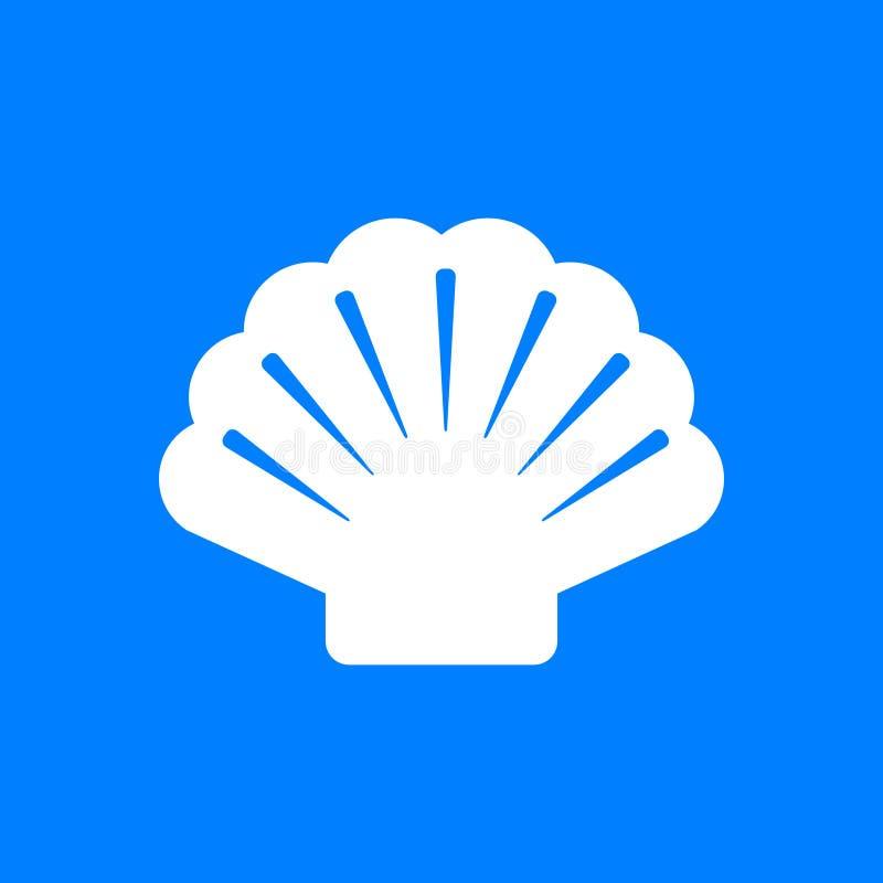 Shell et fond illustration libre de droits