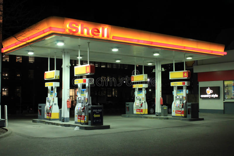 Shell Gas Station photographie stock libre de droits