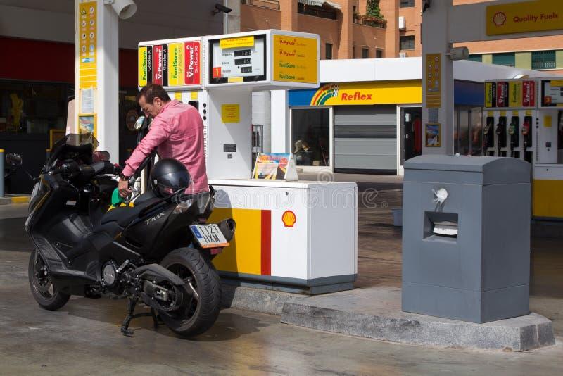 Shell Gas Station stock afbeeldingen