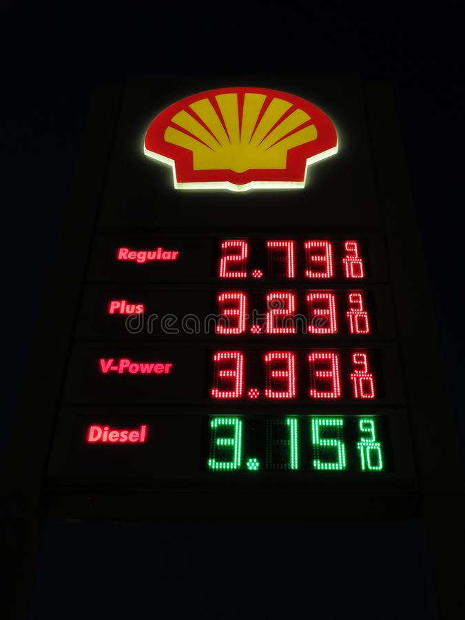 Shell Gas Station Prices Near Me >> Shell Gas Station Prices Editorial Image Image Of Prices