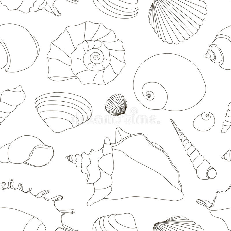 Shell geplaatst patroon vector illustratie
