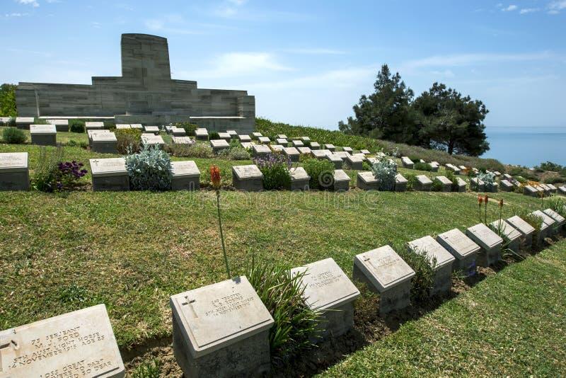 Shell Green Cemetery på Gallipoli arkivfoto