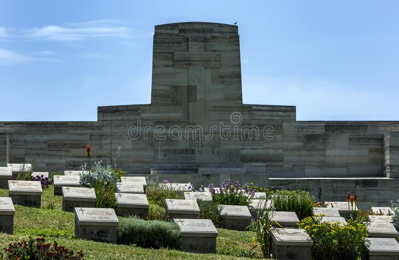 Shell Green Cemetery på Gallipoli arkivbild