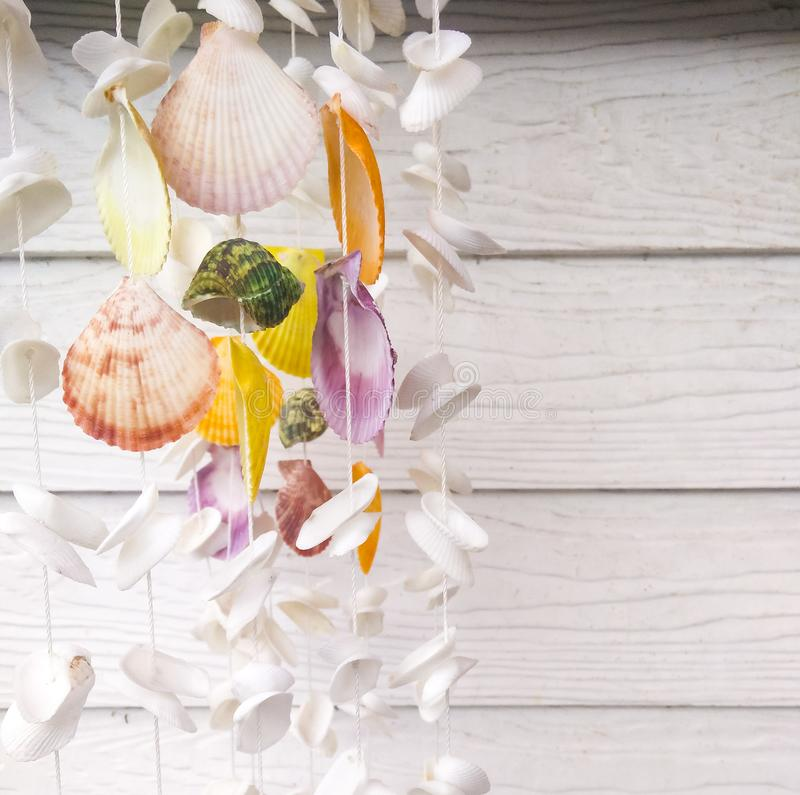 Shell hanging mobile royalty free stock images