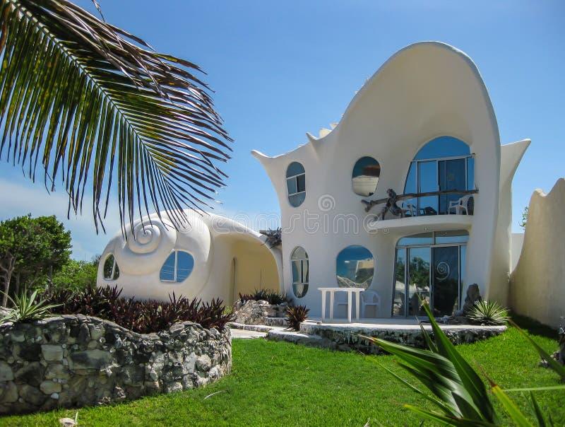 Shell House op Isla Mujeres royalty-vrije stock foto's