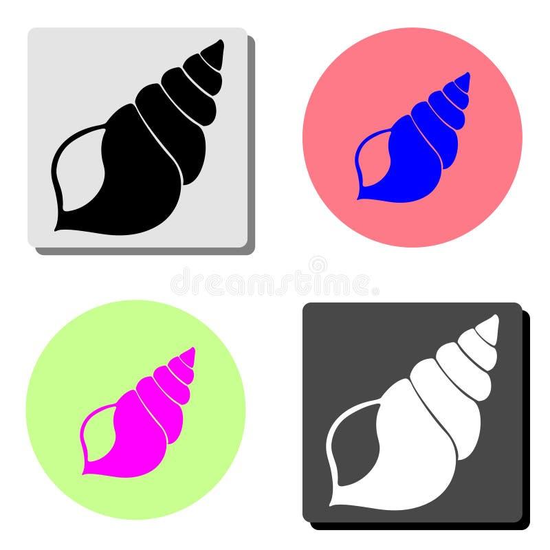 Shell Icône plate de vecteur illustration de vecteur