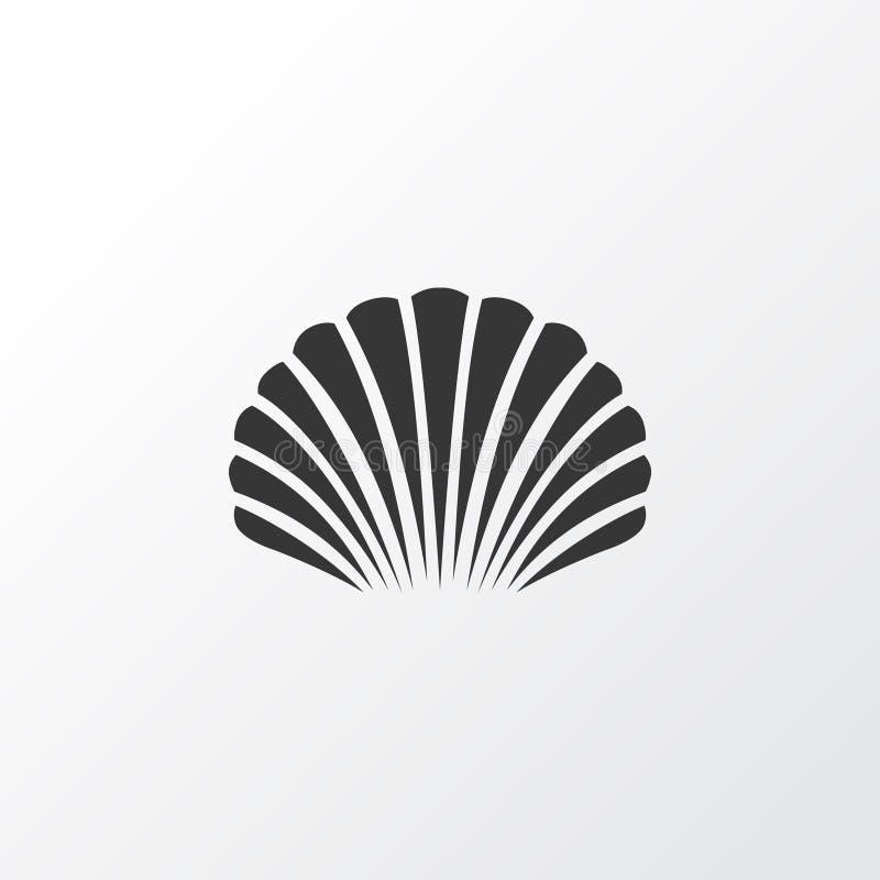 Shell Icon Symbol. Premium Quality Isolated Conch Element In Trendy Style. Premium Quality Isolated Conch Element In Trendy Style. Shell Icon Symbol royalty free illustration