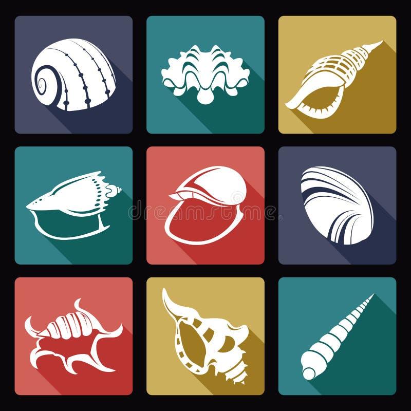 Shell ikony ilustracja wektor