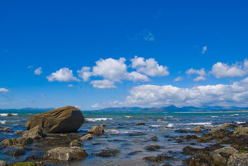 Shell-Insel Nordwales stockbilder