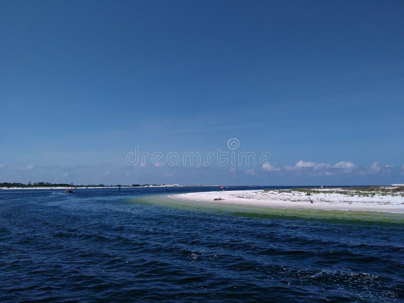 Shell Island en plage de Panamá City photographie stock