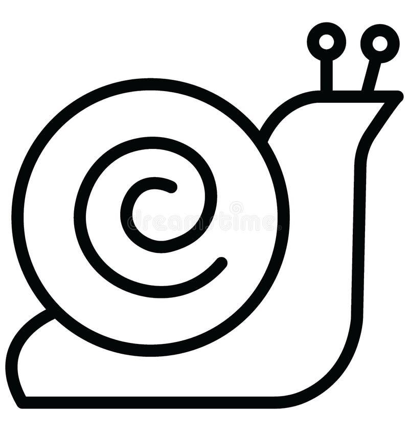 Shell Isolated Vector Icon qui peut facilement modifier ou ?diter illustration libre de droits