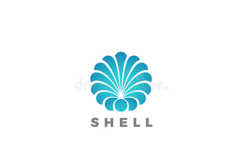 Shell Logo circle abstract design vector Travel stock illustration