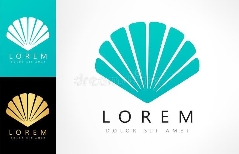 Shell logo Mollusk wektor ilustracja wektor