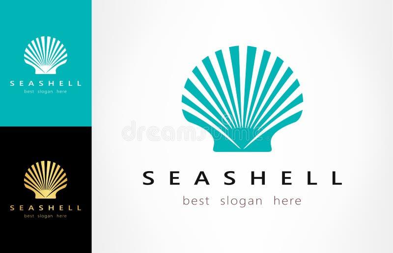 Shell logo Mollusk wektor ilustracji