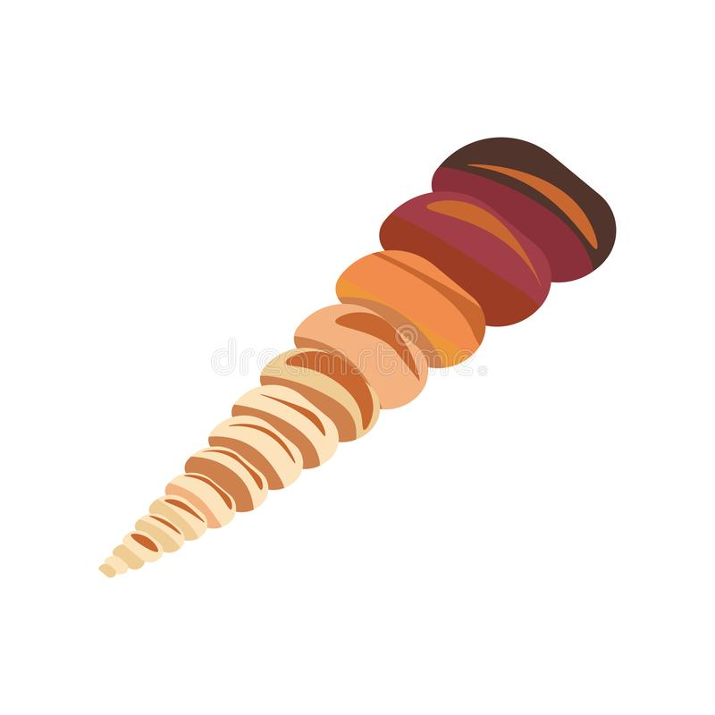 Shell lub mollusk seashell, morza i oceanu ilustracja wektor