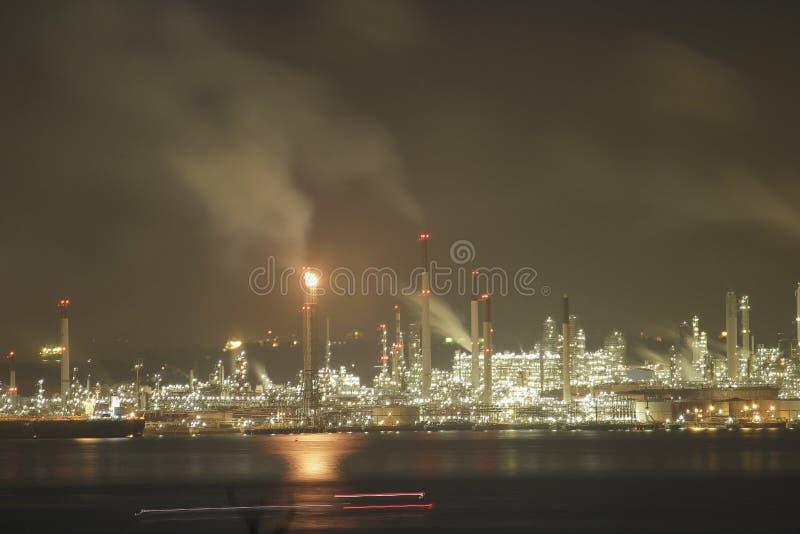 Shell Manufacturing Site en la isla de Pulau Bukom foto de archivo libre de regalías