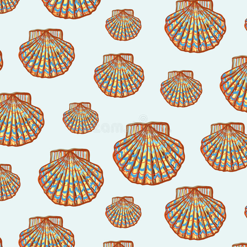 Shell modèlent illustration de vecteur