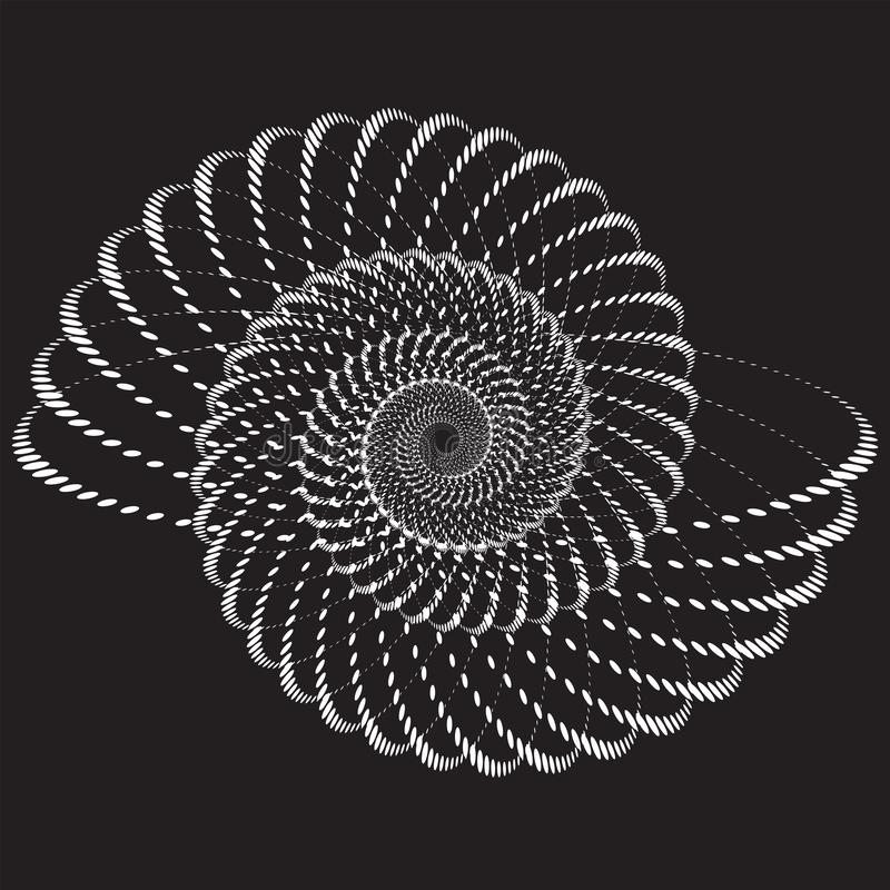 Shell Mod?le ou texture tram? pointill? de vecteur illustration de vecteur