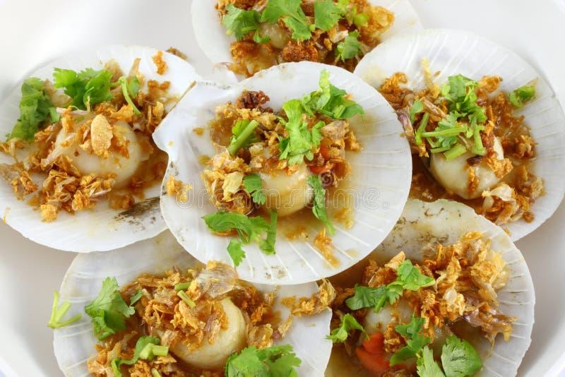 Shell overzees voedsel stock afbeeldingen