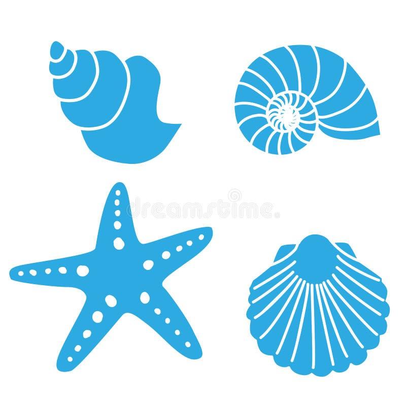 Shell pêche des formes illustration de vecteur