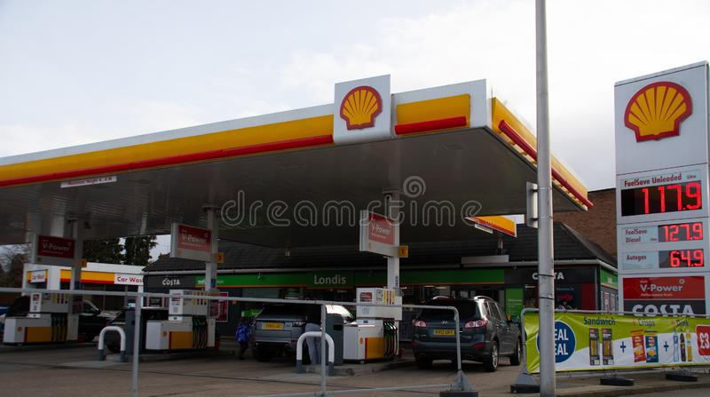 Shell Petrol Station royalty free stock images