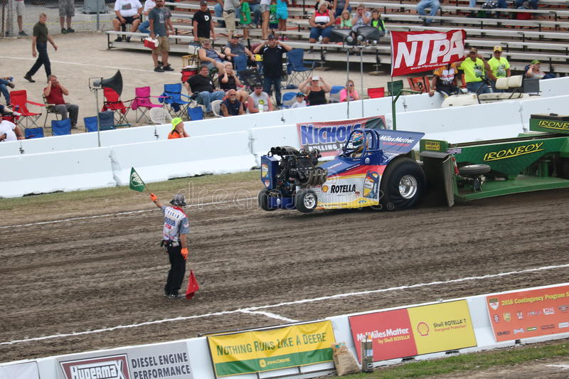 Shell Rotella Mini Modified Pulling tractor royalty free stock images