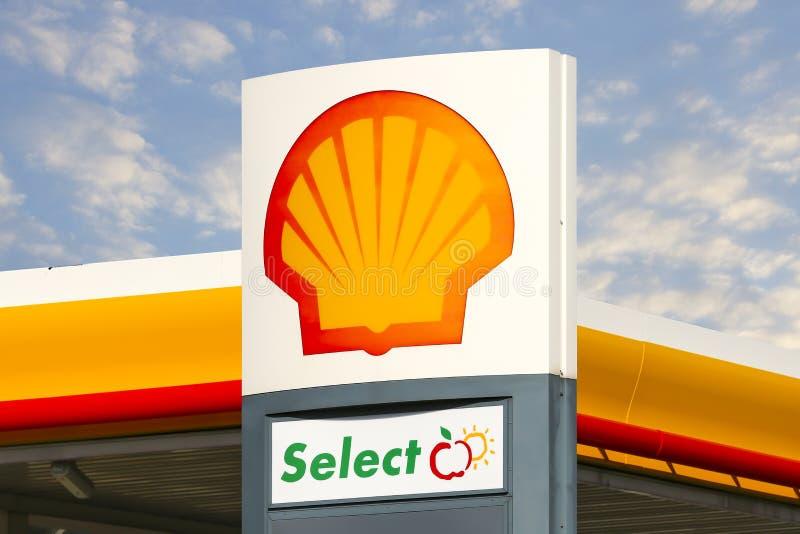 Shell signent photographie stock libre de droits