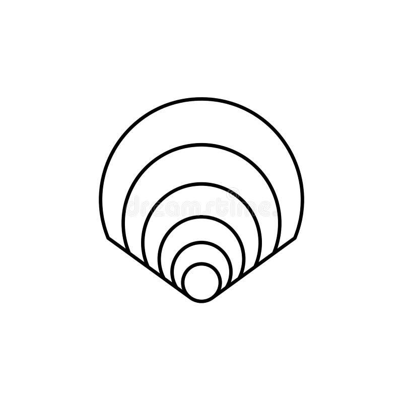 Shell-symbool - Lijnpictogram voor uw ontwerp royalty-vrije illustratie