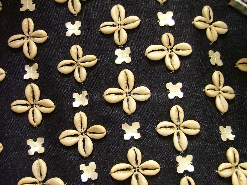 Shell textiel royalty-vrije stock foto