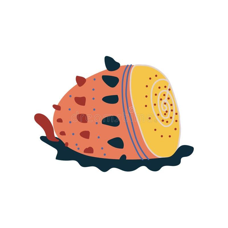 Shell tropical, illustration colorée sous-marine de vecteur de créature de mer illustration de vecteur