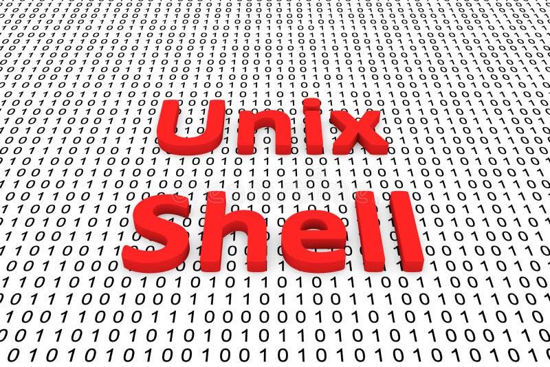 SHELL UNIX illustration stock