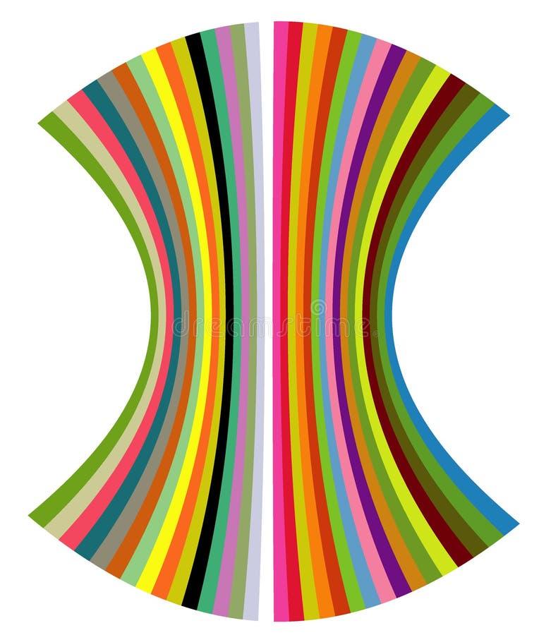 Shell van de kleur vector illustratie